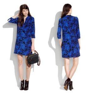 Madewell Dresses - Madewell Silk Blue Floral Dress/tunic